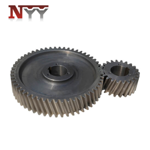 Food and feed machinery casting gear pair