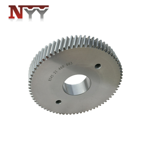 Plastic and rubber extruder high speed gearbox 17CrNiMo6 tooth grinding helical gear
