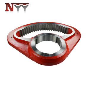 Metallurgy machinery fan shaped casting steel internal gear