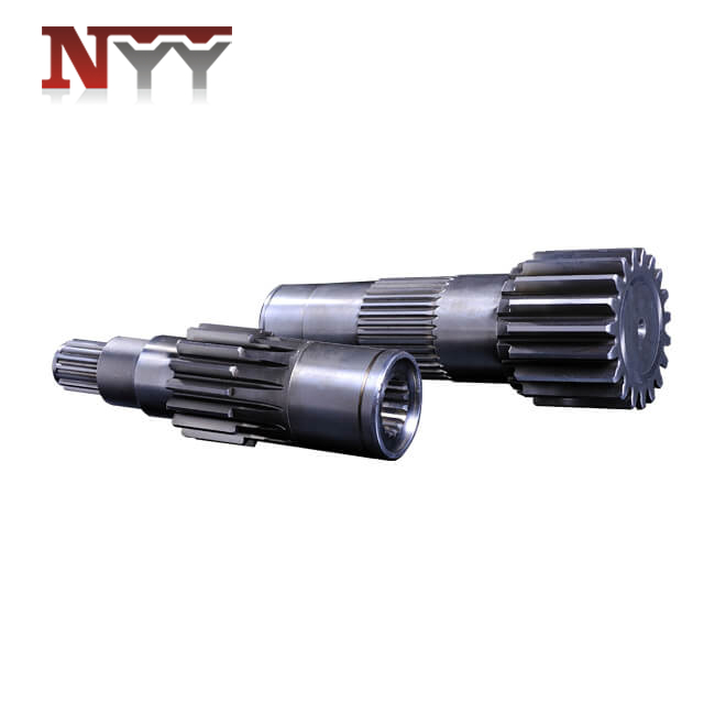 Mining machinery gear shaft with spline