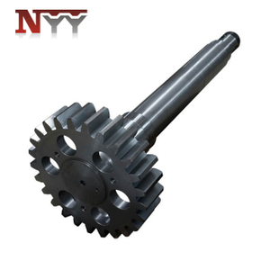 Metallurgy machinery soft tooth flank DIN class 6 gear shaft